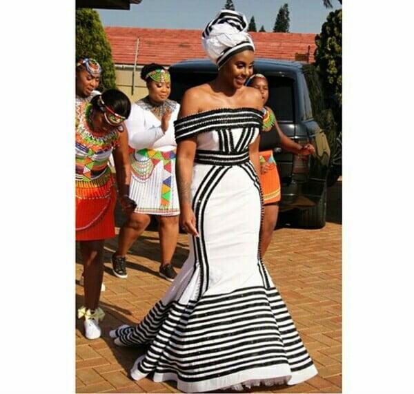 Gugu Mbatha In Beautiful Strapless Xhosa Umbhaco Mermaid