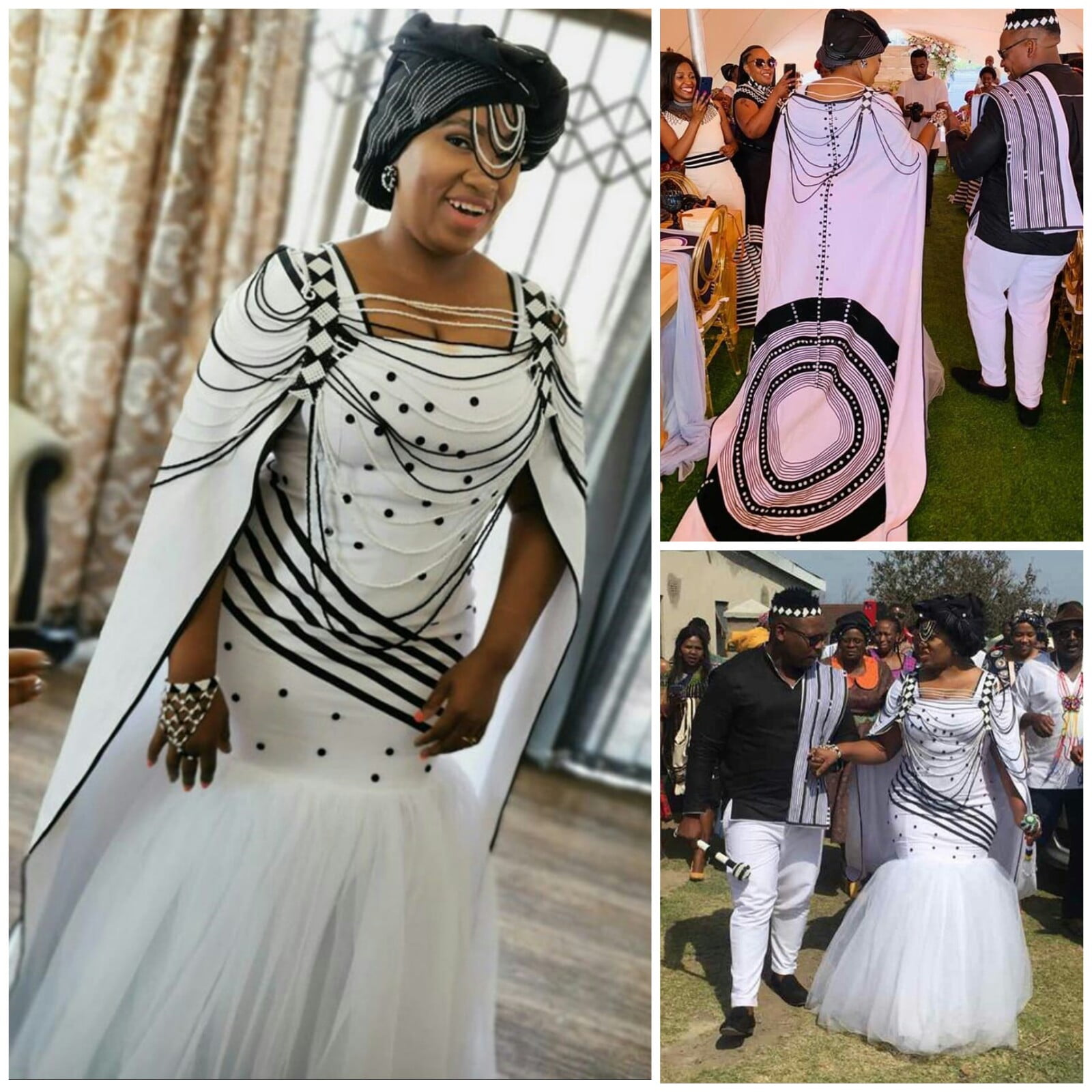 Xhosa Couple In Modern Umbhaco Inspired Traditional Wedding ...