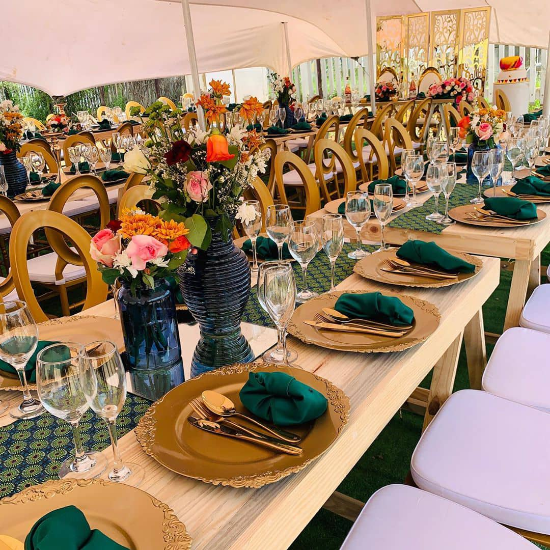 Rustic and Green Shweshwe Themed Traditional Wedding Decor – Clipkulture