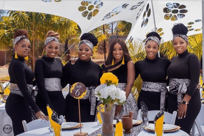 beautiful african bridesmaids
