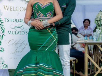 Green Venda Traditional Wedding Dress