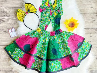African Print Pinafores for Girls