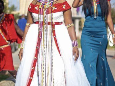 Beautiful Two Piece Maasai Traditional Wedding Attire