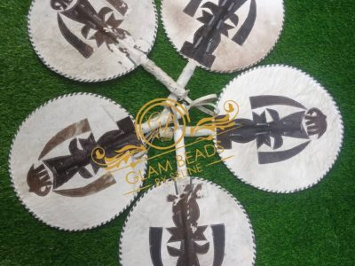 Quality Leather Hand Fans for Men (Asoebi)