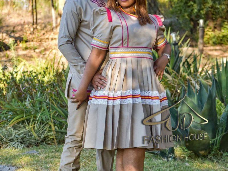 Modern Sepedi Attire for Couples